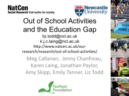 Out of school activities and the education gap