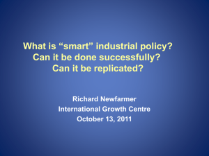"What is ""smart"" industrial policy? Can it be done successfully"