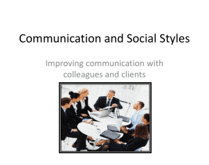 Communication and Social Styles Ppt
