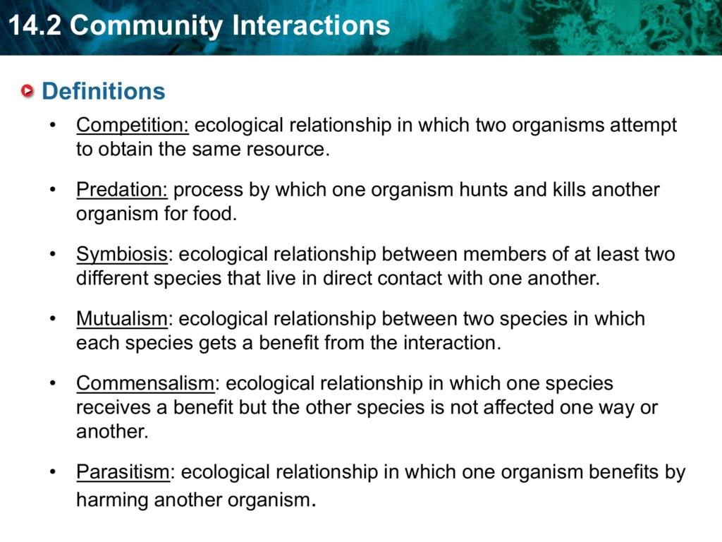 Ecological Relationships Worksheet Answer Key - Worksheet List