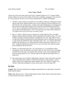 Othello essay questions