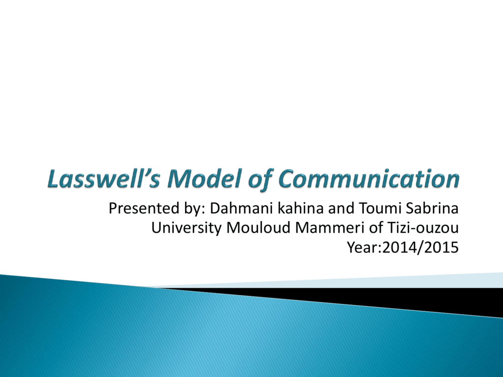 Lasswells model of communication ccuart Choice Image