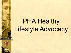 PHA Healthy Lifestyle Advocacy - Philippine College of Physicians
