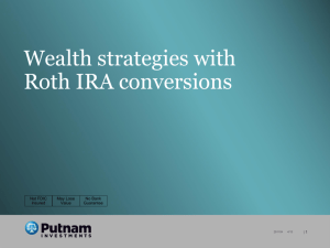 Wealth strategies with Roth IRA conversions