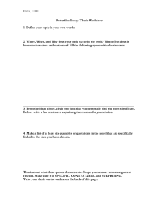 Essay Two: Thesis Worksheet