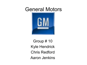 General Motors Power Point