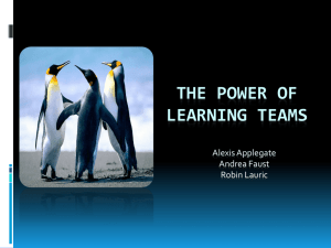 The Power of Learning teams