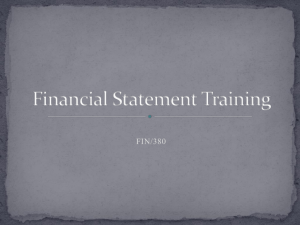 FIN/380 What is a financial statement? How can they help the