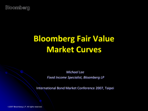 Bloomberg Fair Market Yield Curves Methodology,