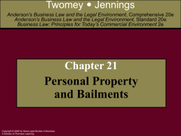 Anderson's Business Law 20e