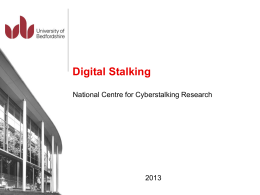 CIS Presentation - National Stalking Helpline