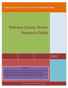 Natrona County Senior Resource Guide
