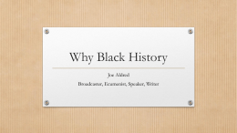 Why Black History