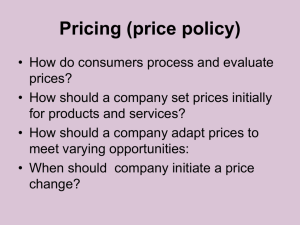 Pricing (price policy)