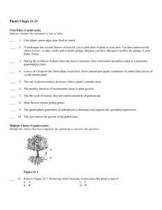 Plants Chaps 21-23 Answer Section