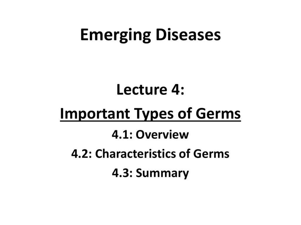 ed lec 4 germs