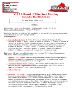 VIAAA Meeting Dates - 2013-14 - Virginia Interscholastic Athletic