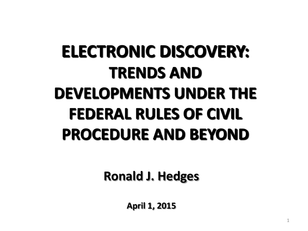Electronic Discovery - American Bar Association