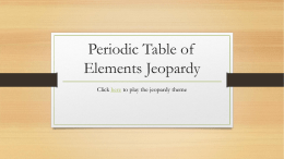 Atoms the smallest unit of an element that retains the properties of jeopardy game urtaz Gallery