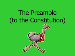 The Preamble - Issaquah Connect