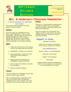 September 2015 newsletter