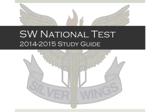 SW National Test STUDY GUIDE (2014