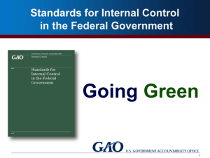 Revisions to GAO's Standards for Internal Control, USA