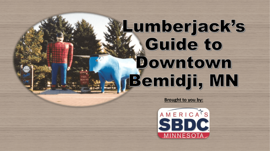 lumberjack s guide to downtown bemidji mn studylib