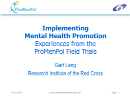 4. Gert Lang - European Network for Mental Health Promotion