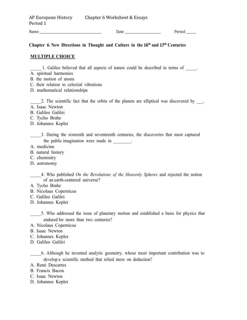 Worksheet – Mechanical Universe Worksheets
