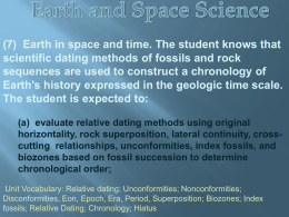 (7) Earth in space and time. The student knows that scientific dating