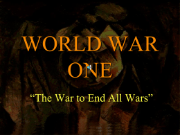 The Road to World War I.ppt
