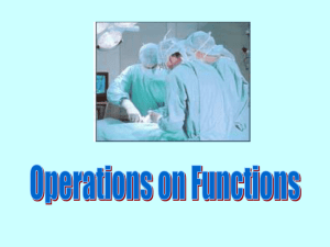 Operation of Functions - Biloxi Public Schools