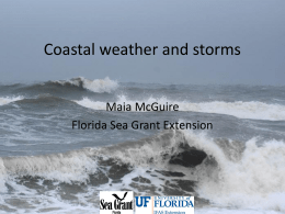 Coastal weather and storms