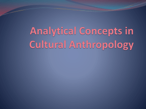 Analytical Concepts in Cultural Anthropology