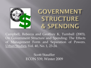 Government Structure & spending