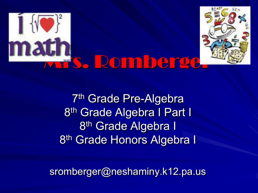 Algebra - Neshaminy School District