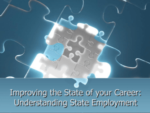 Improving the State of your Career: Understanding State Employment