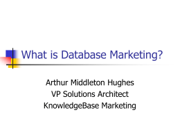 What is Database Marketing