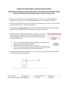 Coulomb's Law Practice problems – Group Work (scribe and solvers