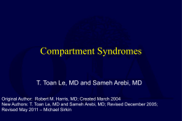 Compartment Syndromes