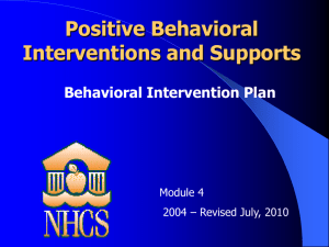 "Behavioral Intervention Plan""?"