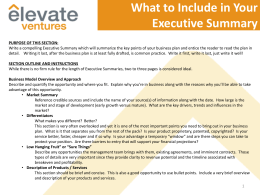 Executive Summary Primer