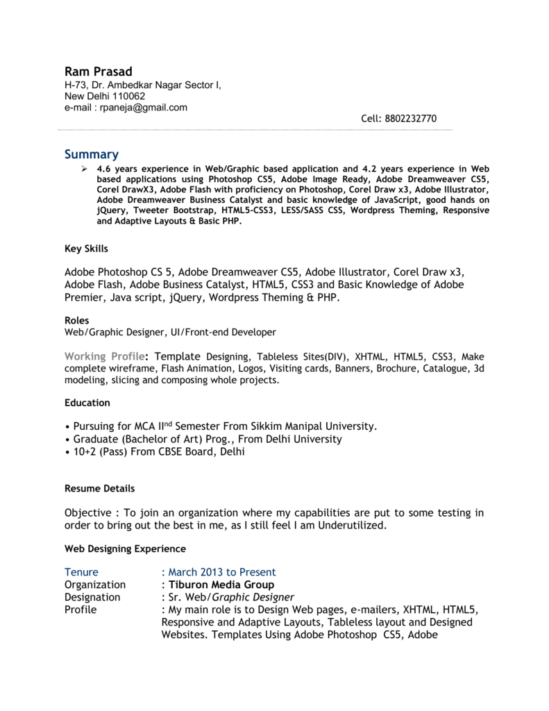 Resume in MS Word