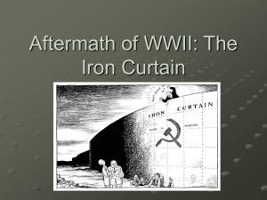 Aftermath of WWII: The Iron Curtain