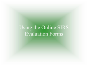 Using the Online SIRS Evaluation Forms