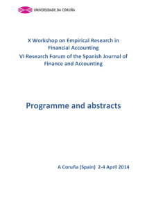 X Workshop on Empirical Research in Financial Accounting VI