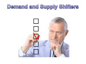 Supply and Demand Shifters