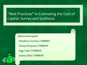 *Best Practices* in Estimating the Cost of Capital: Survey and