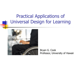 Universal Design for Learning - University of Hawaiʻi at Hilo